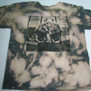 Bravado 2-Pac Graphic Bleach Dye T-Shirt